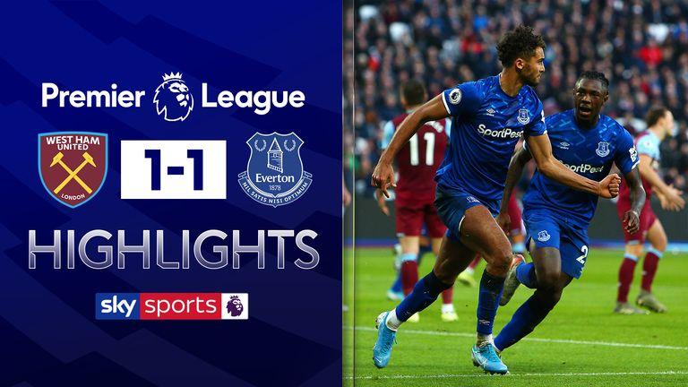 West Ham v Everton highlights