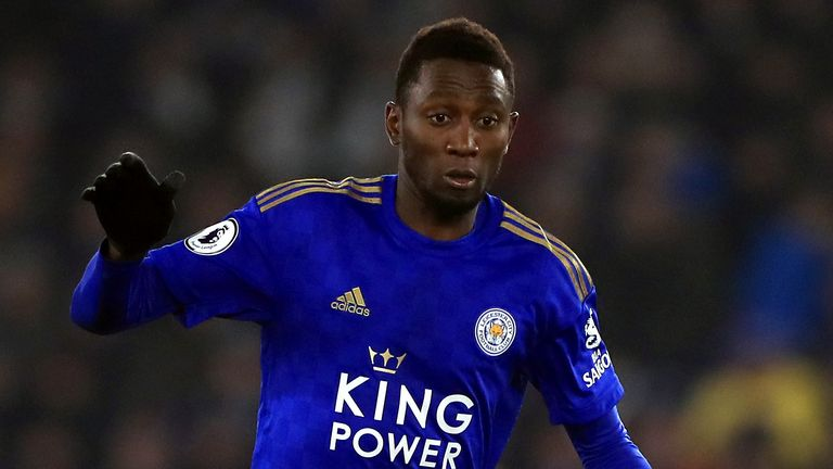 Leicester City's Wilfred Ndidi in action against Watford in the Premier League