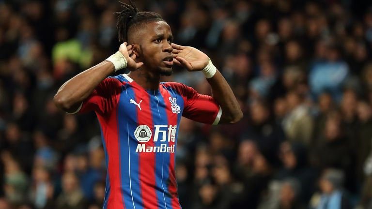 Wilfried Zaha is a key man at Crystal Palace