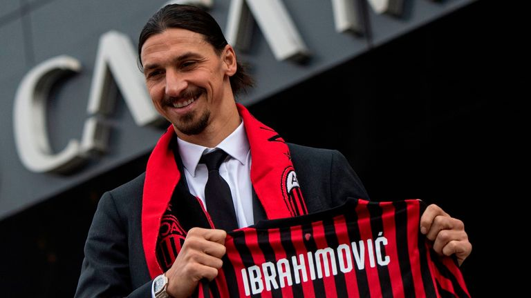 Zlatan Ibrahimovic has re-joined Milan on an initial six-month deal