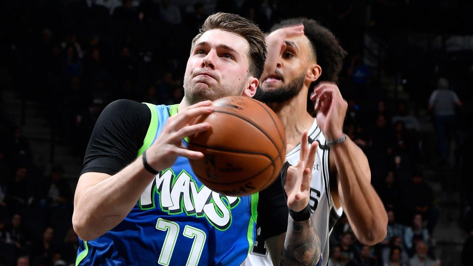 Luka Doncic posts triple-double to lead Dallas Mavericks past San Antonio Spurs