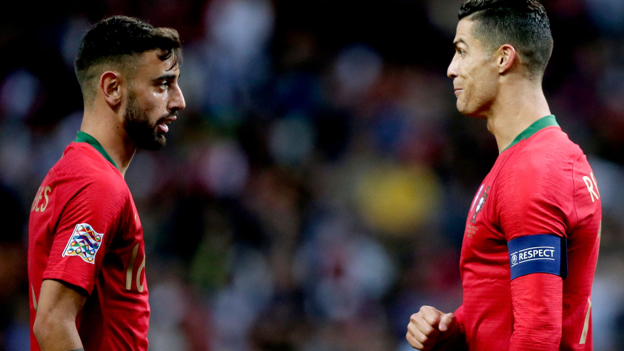 Image result for bruno fernandes and cristiano ronaldo