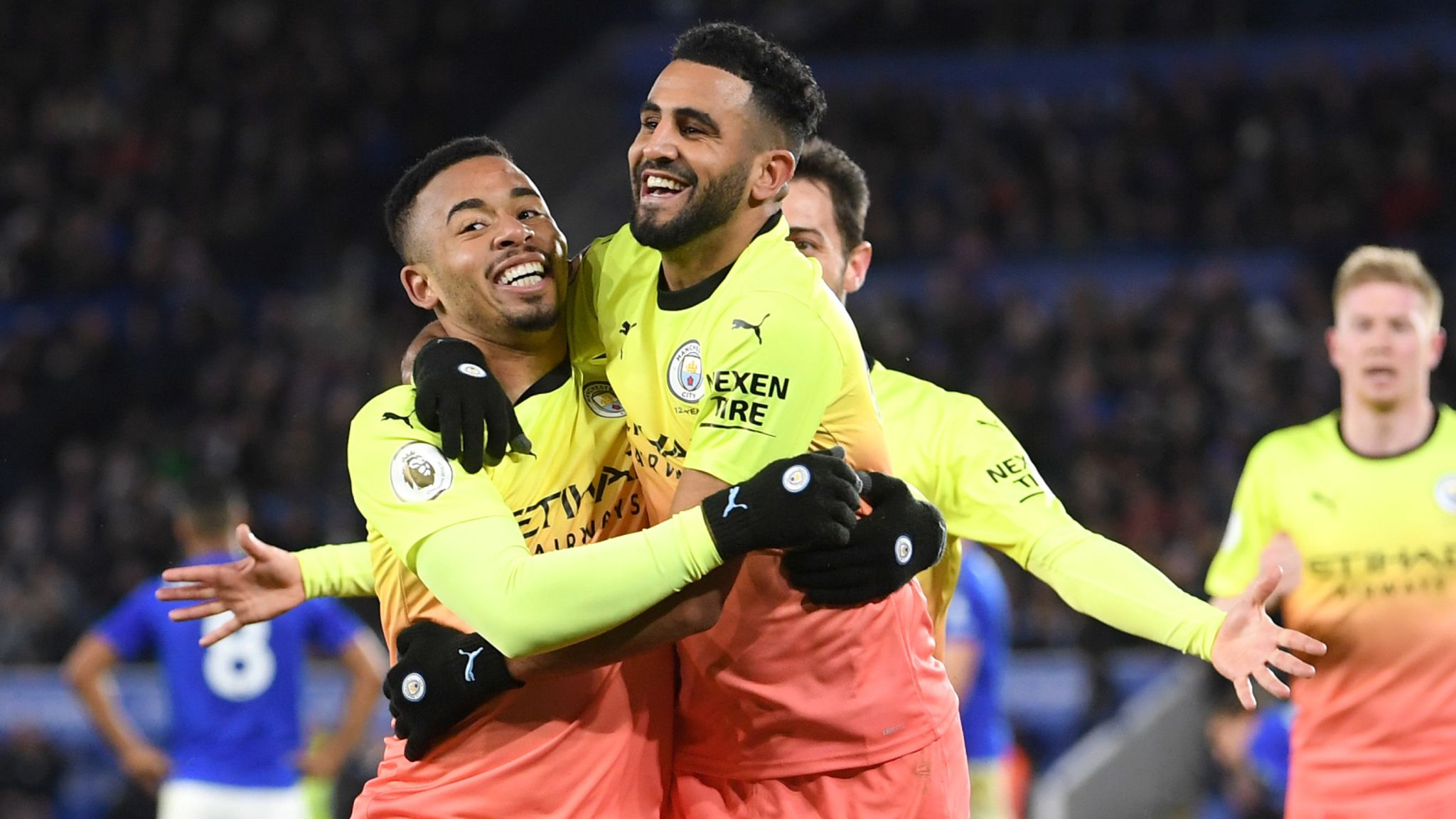 Leicester 0-1 Manchester City: Gabriel Jesus grabs late win after Sergio Aguero penalty miss