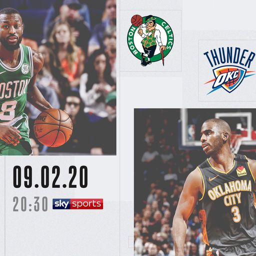 NBA Primetime: Celtics @ Thunder Clippers on Sky Sports