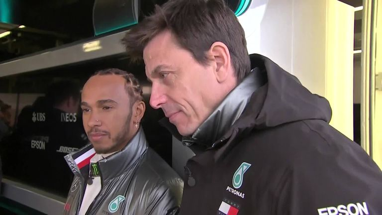 In this exclusive interview, Sky Sports' Craig Slater catches up with Mercedes' Lewis Hamilton Valterri Bottas and Toto Wolff as the team reveal their car 2020 car, the W11