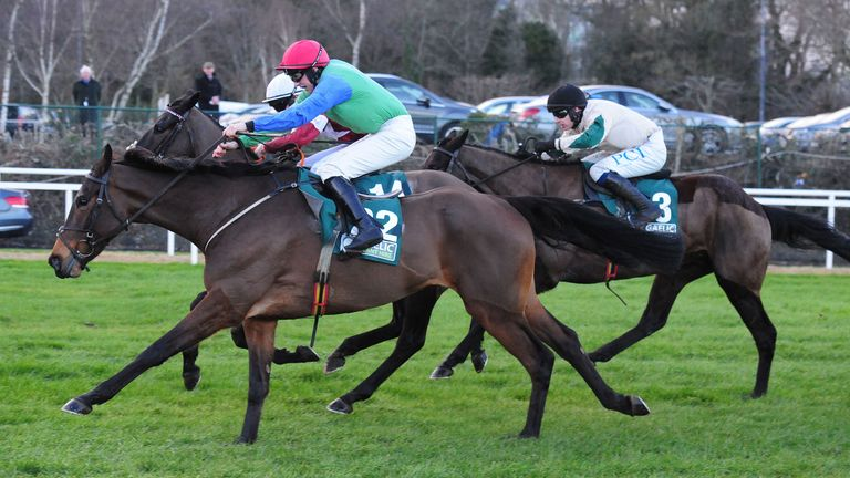 Glamorgan Duke ridden by Conor Maxwell (left) wins the Gaelic Plant Hire Leopardstown Handicap Chase