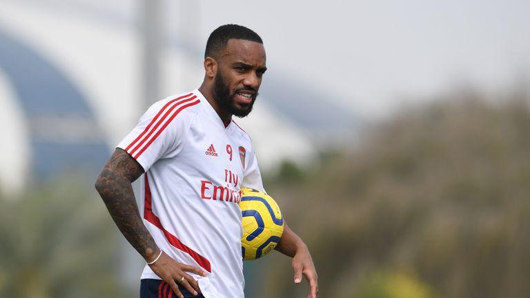 Arsenal are enjoying some warm weather training in Dubai