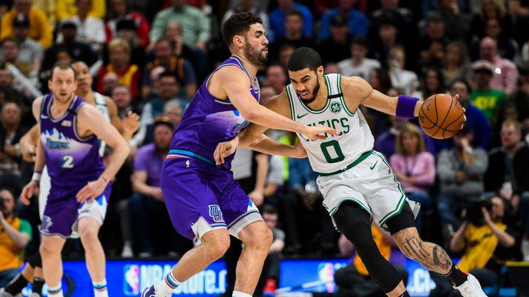 Boston Celtics' trip to the Utah Jazz in Week 19 of the NBA.