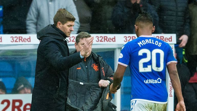 Alfredo Morelos could not find the back of the net