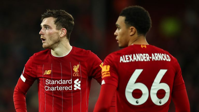 Trent Alexander-Arnold and Andrew Robertson have been integral to Liverpool's success this season