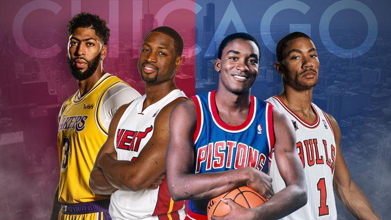 Chicago-born NBA stars Anthony Davis, Dwyane Wade, Isiah Thomas and Derrick Rose