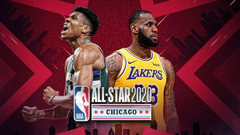 All-Star team captains Giannis Antetokounmpo and LeBron James