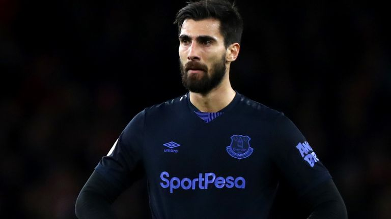 Andre Gomes returned to action for the first time since his horrific leg break