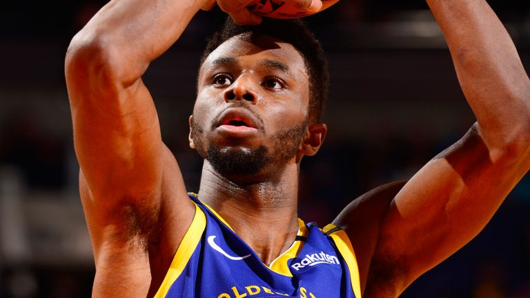 Andrew Wiggins lofts a shot for Golden State