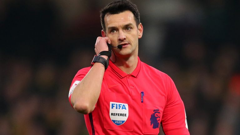 Premier League referee Andy Madley