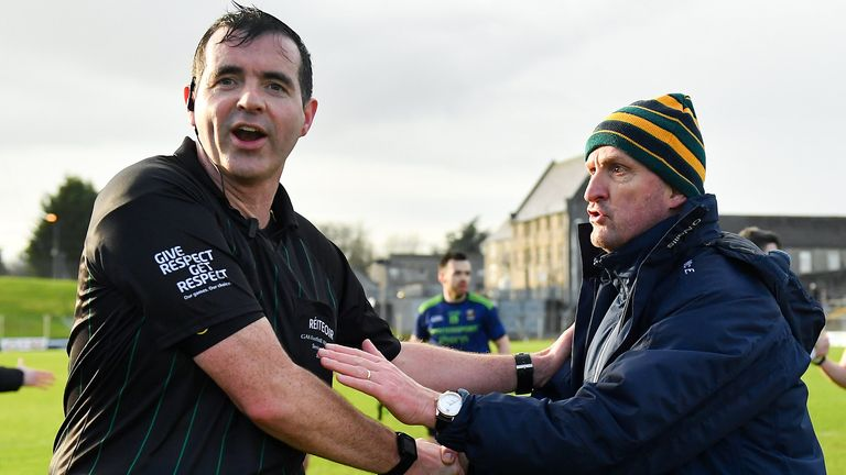 Meath boss Andy McEntee was unhappy at full-time