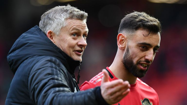Solskjaer will be hoping Fernandes picks up where he left off before lockdown