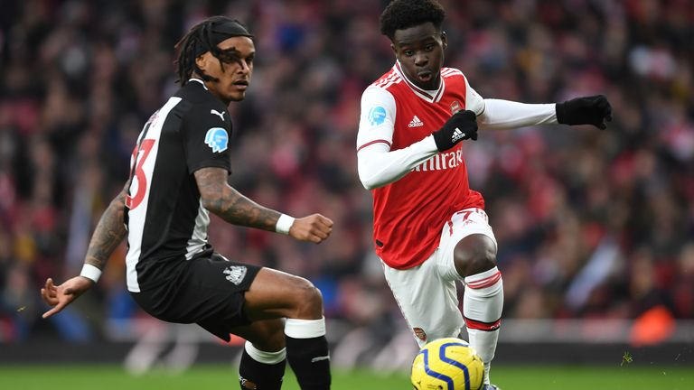 Saka credits Granit Xhaka and David Luiz for helping him settle at left-back