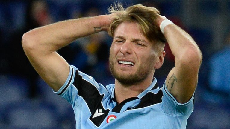 Ciro Immobile missed Lazio's best chance against Hellas Verona