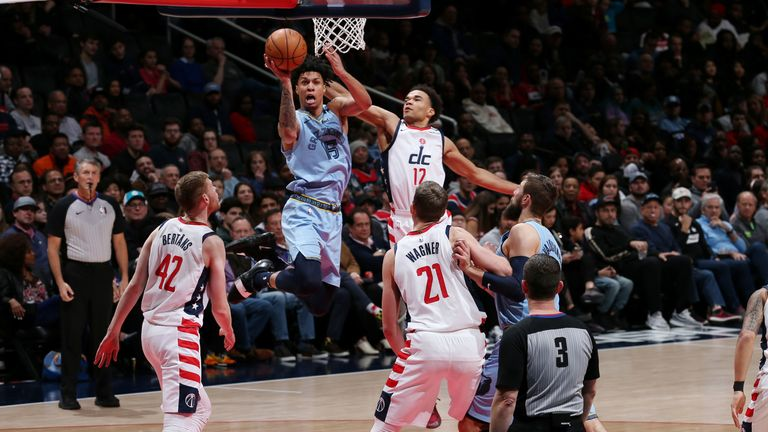 Brandon Clarke of the Memphis Grizzlies shoots the ball against the Washington Wizards