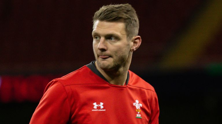 CARDIFF, WALES - JANUARY 31:  Dan Biggar during the Captains run ahead of the 2020 Guinness Six Nations match between Wales and Italy at Principality Stadium on January 31, 2020 in Cardiff, Wales. (Photo by Huw Fairclough/Getty Images)