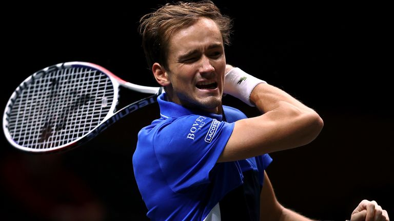 Daniil Medvedev came from behind to win in Marseille