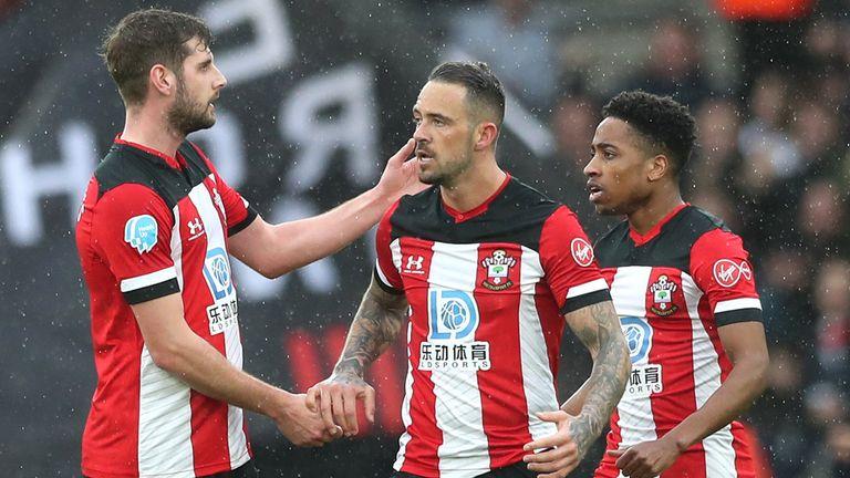 Danny Ings celebrates scoring against Burnley for Southampton