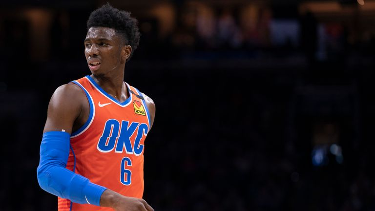 Hamidou Diallo of the Oklahoma City Thunder