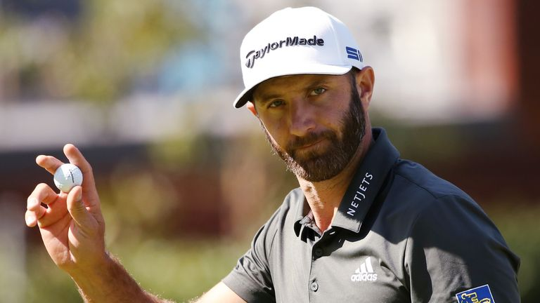 Dustin Johnson managed to smash a left-handed driver over 300 yards