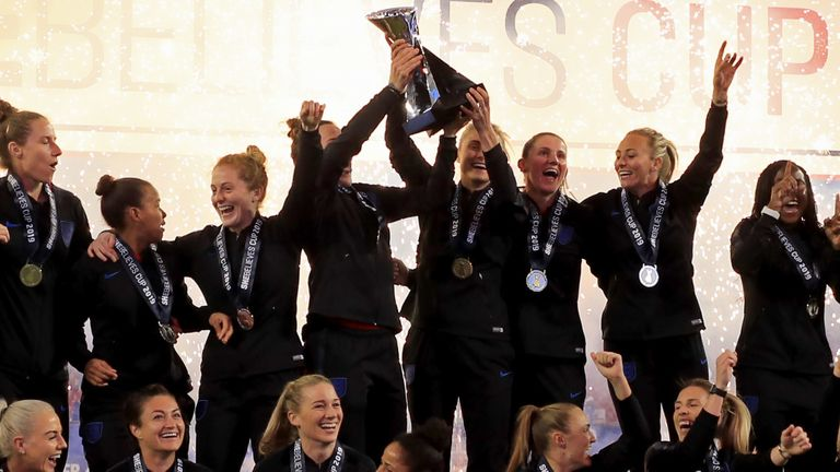 England women's team are holders of the SheBelieves Cup