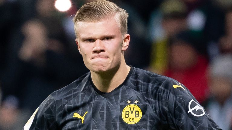 Erling Haaland continued his scoring run for Borussia Dortmund, but could not help them to victory