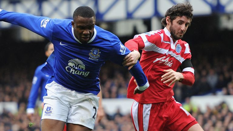 Granero in action for QPR in a Premier League game against Everton