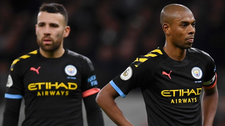 Fernandinho has had to drop into defence in the absence of Laporte