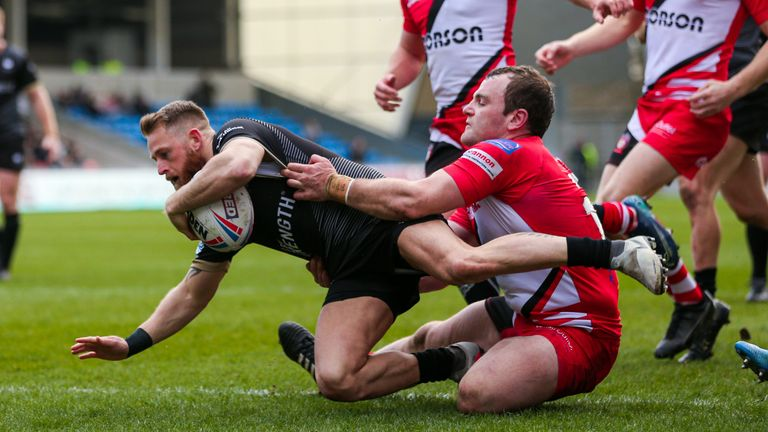 Toronto's Gary Wheeler opened the scoring at the AJ Bell Stadium with the first of two tries