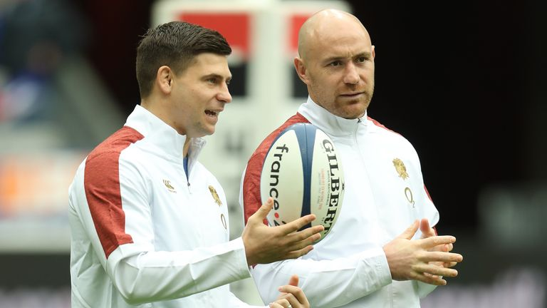 Willi Heinz (right) has replaced Ben Youngs (left) at scrum-half for England in Saturday's squad