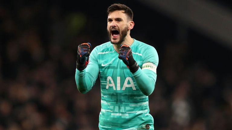 Hugo Lloris celebrates after Tottenham's 3-2 replay win over Southampton