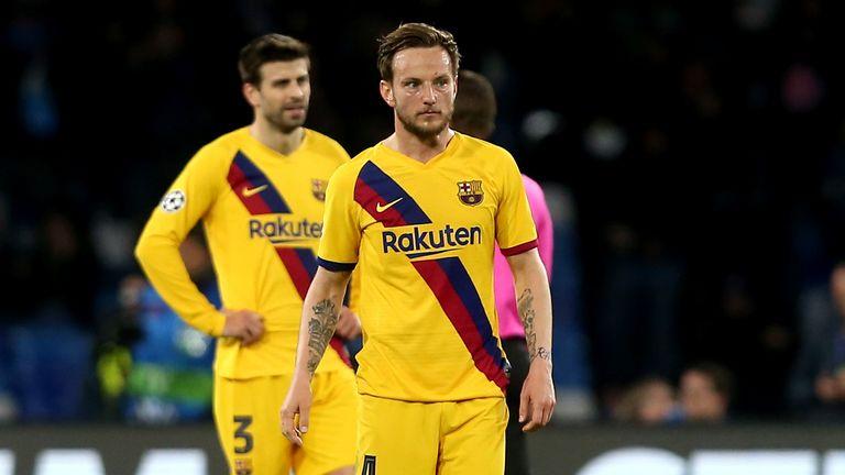 Ivan Rakitic responds to the first-half setback for Barcelona in Naples