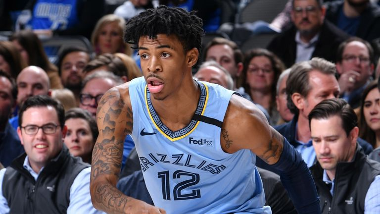 Ja Morant works off the dribble against the Dallas Mavericks