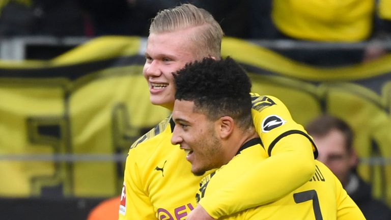 Erling Haaland and Jadon Sancho are two young stars given starting roles at Dortmund
