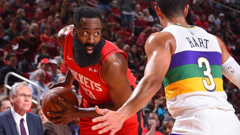 James Harden teases Pelicans' defender Josh Hart