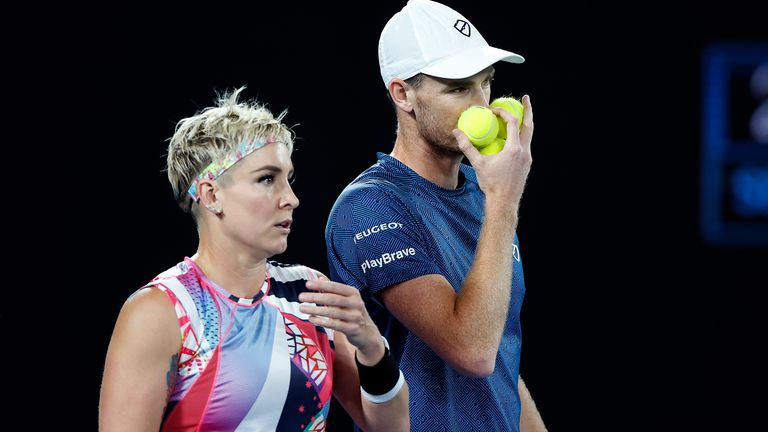 The British-American duo were aiming to win their third Grand Slam mixed doubles title together