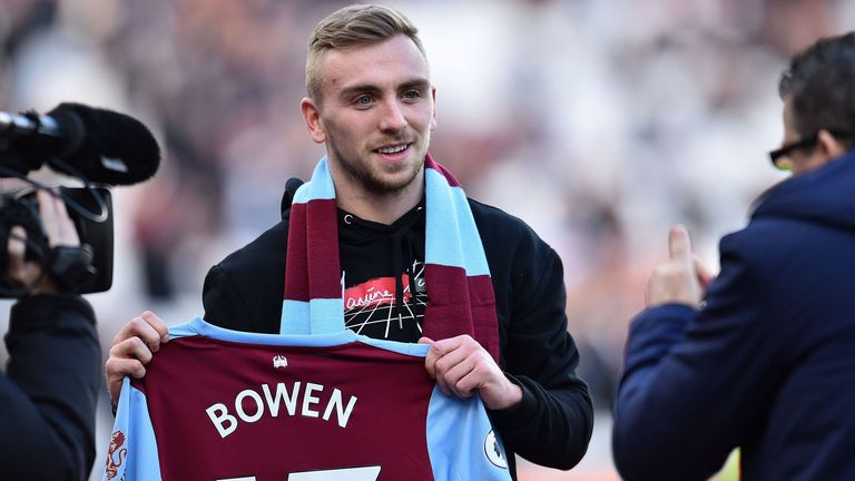 Jarrod Bowen signed a five-and-a-half-year contract at West Ham