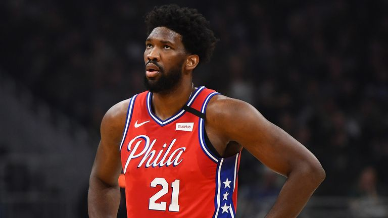 Joel Embiid shows his frustration in Philadelphia's loss in Milwaukee