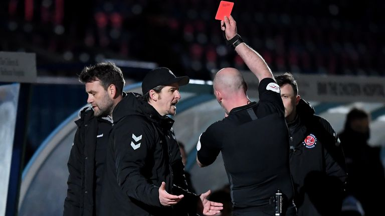 Joey Barton was sent off as Fleetwood beat Wycombe