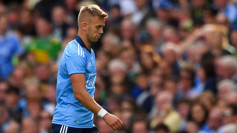 Cooper was sent off for successive first-half fouls against Kerry