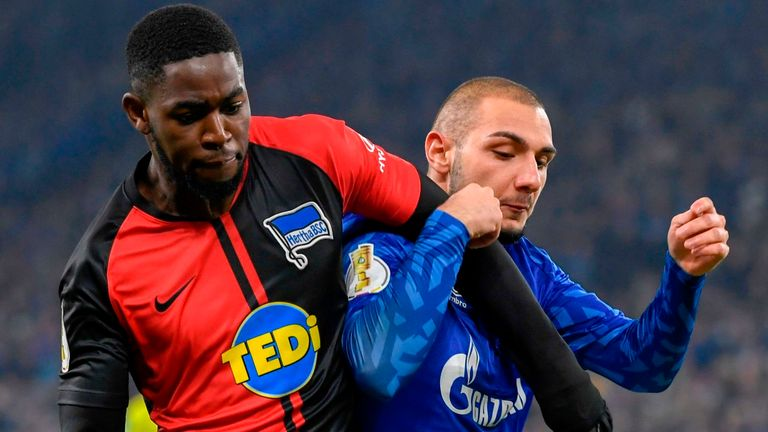 Hertha Berlin crashed out of the German Cup to Schalke