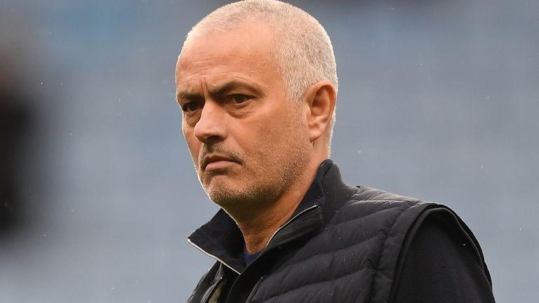 Jose Mourinho before Tottenham's visit to Aston Villa in the Premier League