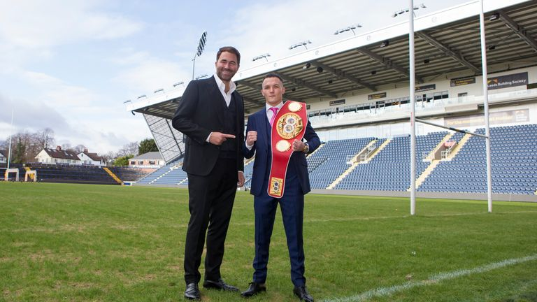 Eddie Hearn & Josh Warrington at Headingley