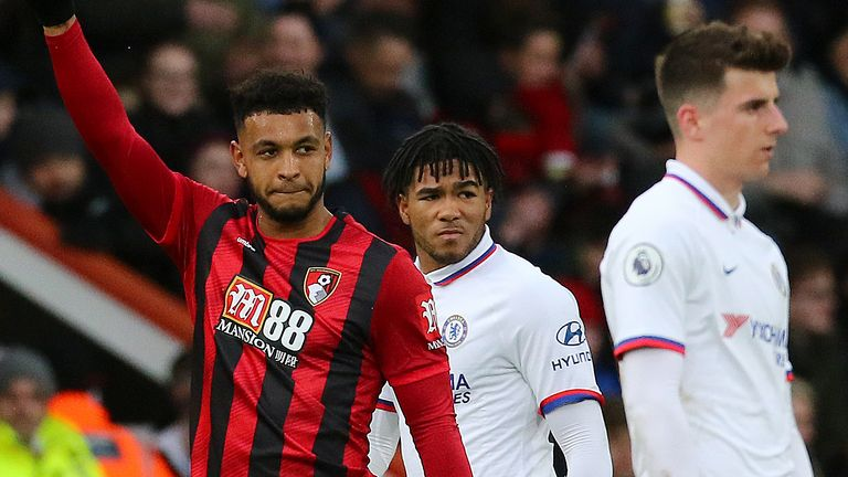 Bournemouth's Joshua King celebrates scoring his side's second goal