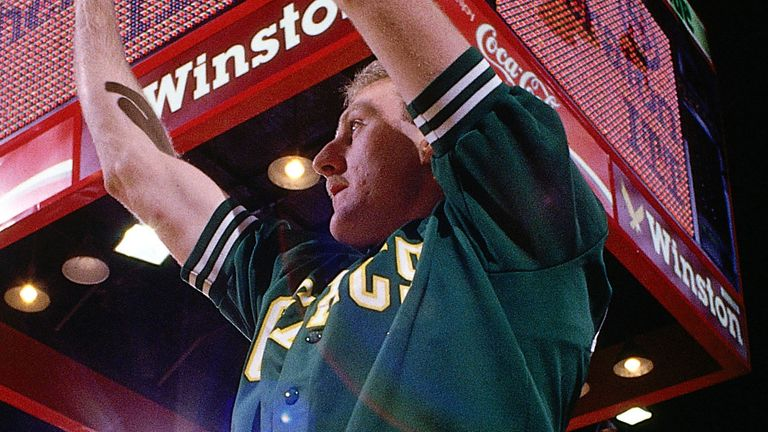 Larry Bird lets fly in the 1988 All-Star 3-Point Contest
